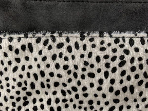 Zwart wit tas baby cheetah